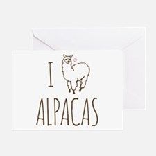 I Love Alpacas Greeting Card