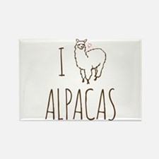 I Love Alpacas Rectangle Magnet