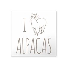"I Love Alpacas Square Sticker 3"" x 3"""