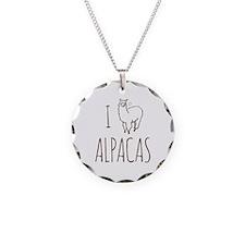 I Love Alpacas Necklace