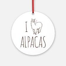 I Love Alpacas Ornament (Round)