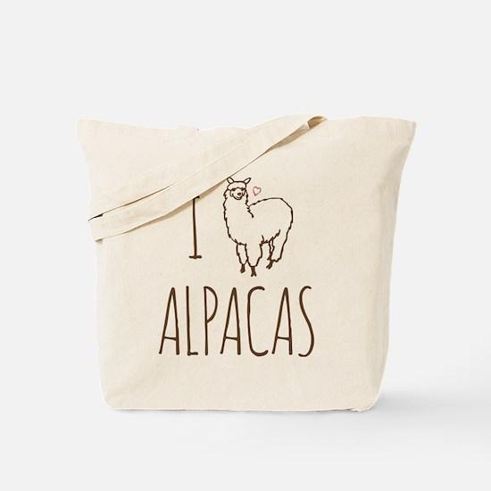 I Love Alpacas Tote Bag