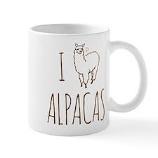 I Love Alpacas Small Mug