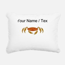 Custom Crab Rectangular Canvas Pillow