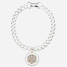 Flower Of Life Retro Col Charm Bracelet, One Charm