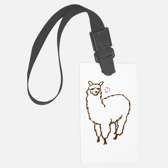 Cute Alpaca Large Luggage Tag