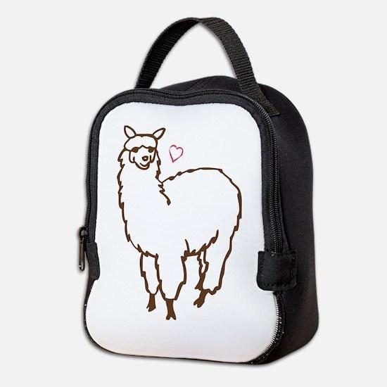 Cute Alpaca Neoprene Lunch Bag