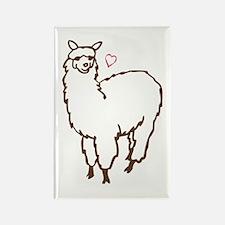 Cute Alpaca Rectangle Magnet