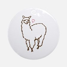 Cute Alpaca Ornament (Round)