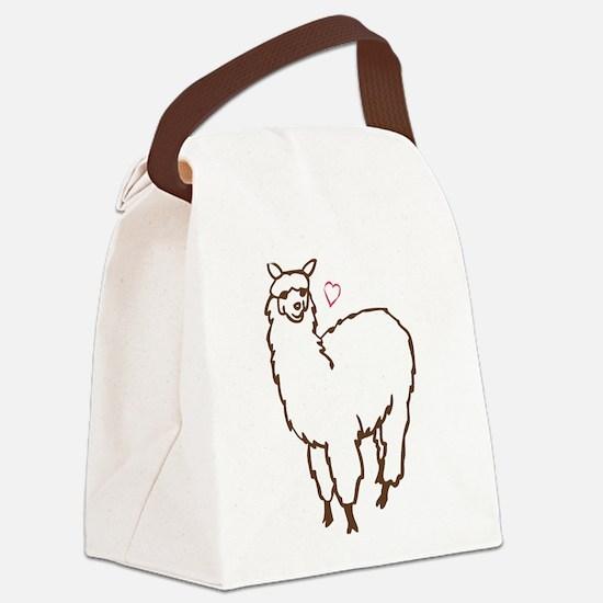 Cute Alpaca Canvas Lunch Bag