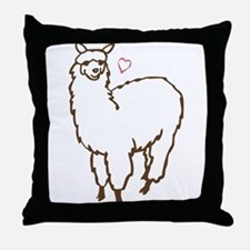 Cute Alpaca Throw Pillow