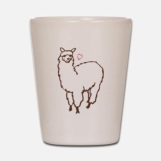 Cute Alpaca Shot Glass