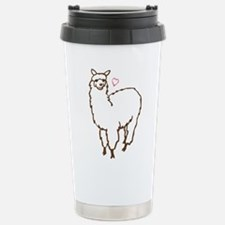 Cute Alpaca Stainless Steel Travel Mug
