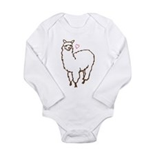 Cute Alpaca Long Sleeve Infant Bodysuit