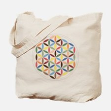 Flower Of Life Retro Cols Tote Bag