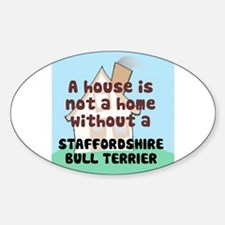 Staffy Home Oval Decal