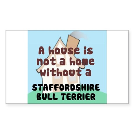 Staffy Home Rectangle Sticker