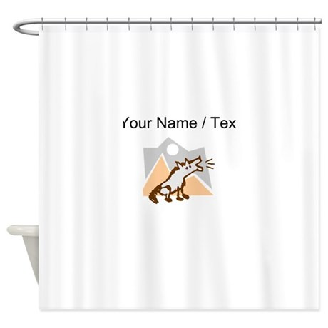 Custom Coyote In Desert Shower Curtain