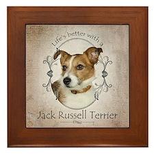 Life's Better Terrier Framed Tile