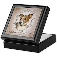 Life's Better Terrier Keepsake Box