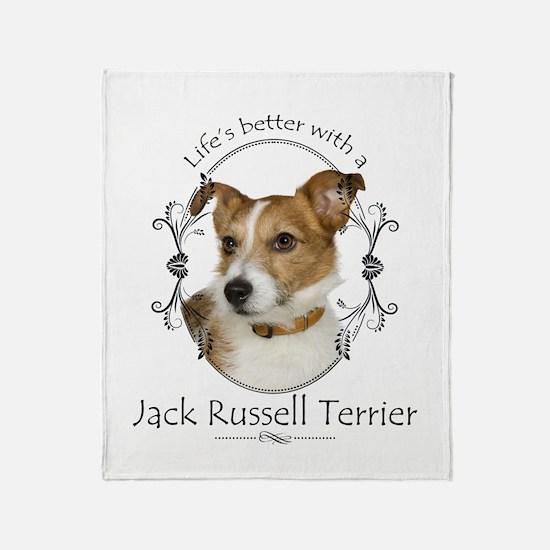 Life's Better Terrier Throw Blanket