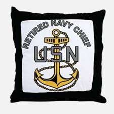 Unique Navy chief Throw Pillow