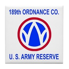189th Ordnance Co. <BR>Tile Coaster
