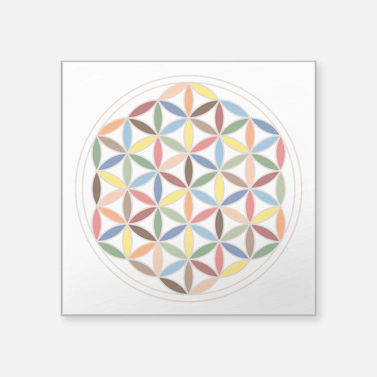 Flower Of Life Retro Cols Sticker