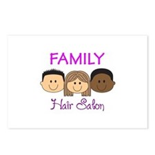FAMILY HAIR SALON Postcards (Package of 8)