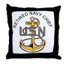Cute Navy chief Throw Pillow