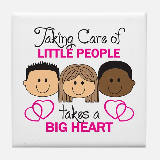 TAKING CARE OF LITTLE PEOPLE Tile Coaster