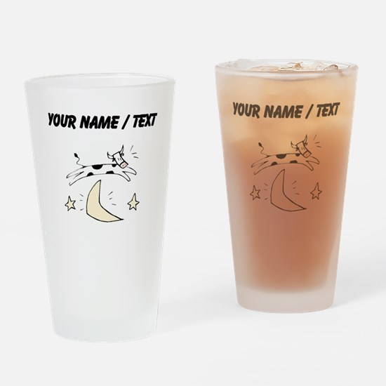 Custom Cow Jumping Over Moon Drinking Glass