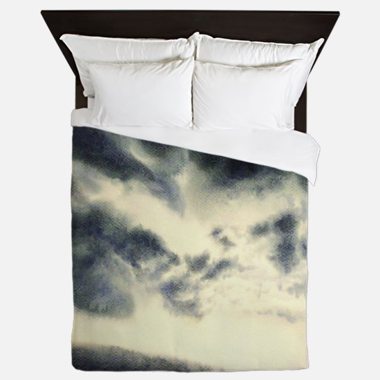 Lightning Up The Night Sky Queen Duvet