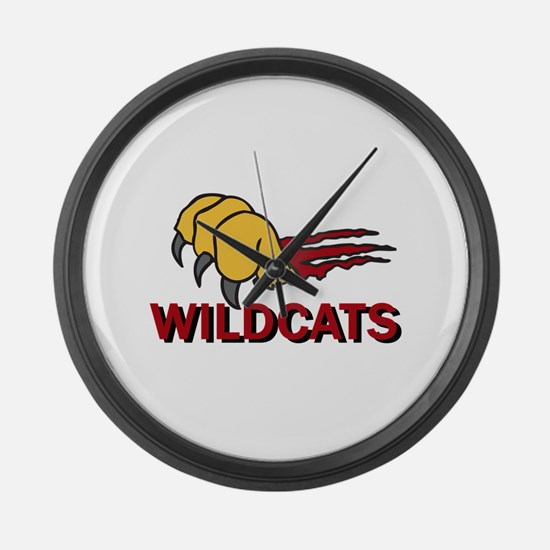 WILDCATS CLAW Large Wall Clock