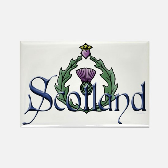 Scotland: Thistle Rectangle Magnet
