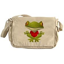Yoga Frog Messenger Bag