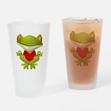 Yoga Frog Drinking Glass