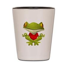 Yoga Frog Shot Glass