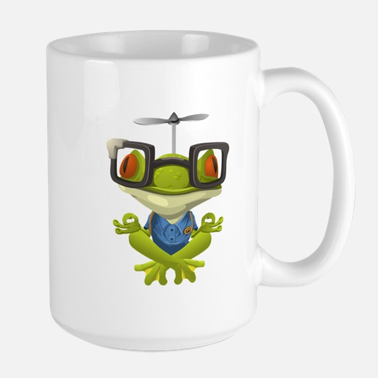 Yoga Frog In Glasses Mugs