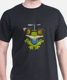 Yoga Frog In Glasses T-Shirt