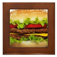 Burger Me Framed Tile