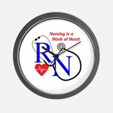 WORK OF HEART Wall Clock