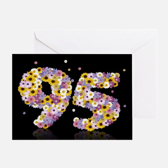 95th birthday card with flowery letters Greeting C