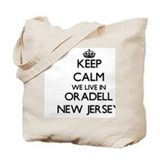 Keep calm we live in Oradell New Jersey Tote Bag