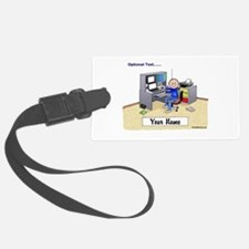 Computer Worker - Gamer, Male Luggage Tag