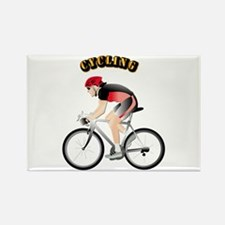 Cycling with Text Rectangle Magnet