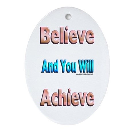 Believe Oval Ornament