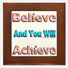 Believe Framed Tile