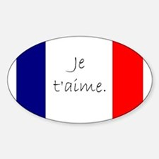 Je t'aime (I love you) - Charlie / French Decal