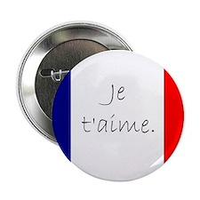 "Je t'aime (I love you) - Charlie / Fr 2.25"" Button"